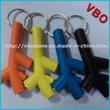 Keychain 3 여성 선전용 이어폰 쪼개는 도구에 오디오 쪼개는 도구 케이블 접합기 남성