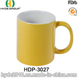 Tazza di caffè di ceramica semplice ecologica con Hnadle (HDP-3027)