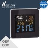 La pantalla a color controlado por radio reloj despertador con estación meteorológica mostrar