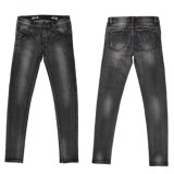 Lave-Black Denim Wholesale Haute Qualité Lady (MY-002)