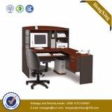 Bibliothèque de tailles importantes avec la porte L bureau d'ordinateur de forme (HX-FCD075)