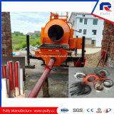 Bomba portátil de aço do misturador concreto do reboque da placa 450L do misturador do cilindro da manufatura 8mm da polia densamente com energia eléctrica para a venda in India (JBT40-P)