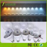 Ampoule en plastique de base 3W - 15W du blanc DEL d'E27 B22 avec le prix bon marché