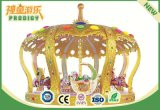 Outdoor Merry Go Round Electric Kids Ride Delux Royal Crown Carousel