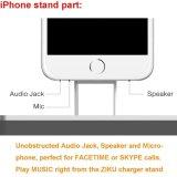 para la estación de carga del cargador del muelle del soporte del recorrido del teléfono móvil del iPhone 7