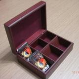 Scatola di di legno su ordine il tè con 6 scompartimenti