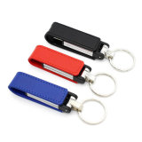 Nouveau Design Keychain en cuir USB Flash Pen Drive Good Gift