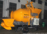 Pompa per calcestruzzo diesel del rimorchio mobile mobile con il miscelatore
