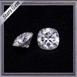 Vente en gros Forever One Cushion Shape Diamond Cut Pure White Moissanite Stones pour Ring