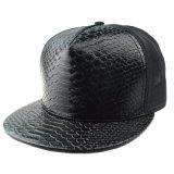 عادة مسطّحة حافة سهل جلد غطاء [سنببك] بايسبول شبكة قبّعة بدون علامة تجاريّة
