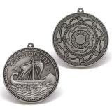 Medaglia d'argento antica del metallo di promozione