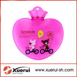 bottiglia di acqua calda Heart-Shaped del PVC 700ml