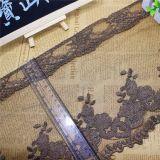 刺繍の工場在庫の卸売21cmの幅の刺繍の金の糸の服装のアクセサリ及びホーム織物のためのナイロン純レースポリエステルトリミングの空想の網のレース