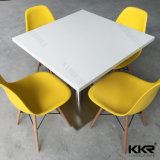 白い固体表面(T1711273)が付いている光沢度の高いダイニングテーブル