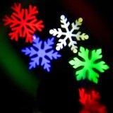LED lámpara de noche romántica de la luz del proyector de copo de nieve para la decoración de vacaciones
