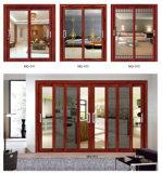 Дверь алюминия двери Slding алюминиевой рамки деревянная