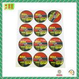 Farbenreicher kundenspezifischer selbstklebender Papierkennsatz/Aufkleber