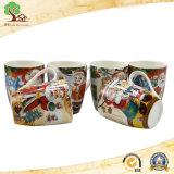 Mokken van de Koffie van de Capaciteit van de Verkoop van de fabriek direct 19oz de Grote Ceramische voor de Gift van Kerstmis