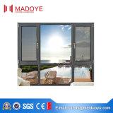 Australia casa residencial de aluminio utilizado Casement ventana con la pantalla de la Mosca