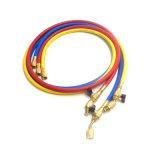 """1/4 """" boyau de remplissage réfrigérant flexible des produits R410A de Yute avec des garnitures"""