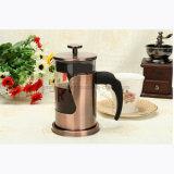 Бак с плунжером кофеего нержавеющей стали, стеклянный бак кофеего давления франчуза кофеего