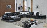 Grande sofà d'angolo per a forma di U sezionale del cuoio moderno del sofà