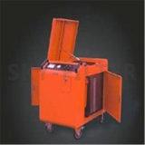 4 Roues Porable de distribution de l'huile du filtre à tambour panier en acier