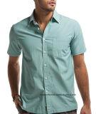 タケOEMの短くか長い袖の余暇のワイシャツの製造者のブランドメンズワイシャツ