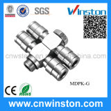 Pneumatic Metal Push-in Fittings with CE