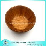 Ciotola di insalata di bambù naturale dell'acacia dell'insalata dell'oggetto d'antiquariato di legno all'ingrosso della ciotola