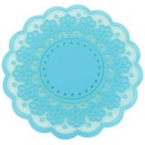 1PCS Fresh Flowers Round Silicone Coasters Candy Color Isolamento Pads Placemats Cup Mats
