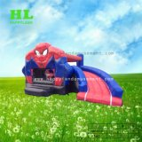 Het Springen van het Kasteel van Bouncy van het Thema van Spiderman Huis Opblaasbare Combo voor Jonge geitjes