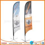 110gsm couche unique en polyester tricoté Outdoor beach flags
