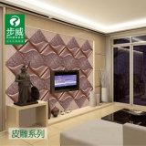Het Snijden van het Leer van de binnenhuisarchitectuur WPC met Ce- Certificaat voor Muur