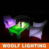 Chaise luisant en plastique à design moderne en LED