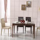 ローズの金の足の人工的な大理石のブラウンカラー上が付いている旧式なダイニングテーブル
