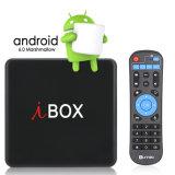 I Box caixa de TV com Amlogic Android S905W 2GB de RAM/16 GB ROM, WiFi com suporte HD 1080p, 4K, CAIXA DE TV inteligente