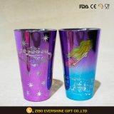 Colorido Brillo Electroplated vidrio 450ml de la copa de cristal