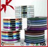 Metallisches geprägtes lockiges Farbband für Weihnachtsdekoration