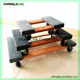 El carro de transporte de mobiliario de la plataforma con manta de fibra