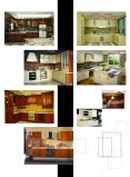 Armadi da cucina di legno su ordine poco costosi di Yijia