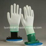 Seguridad de PU de nylon blanco Guantes de trabajo para la fábrica electrónica