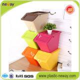 Bunter Haushalts-Papier-Speicher-Plastikgeschenk-Kasten