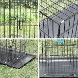 Cage de PET en métal noir de pliage