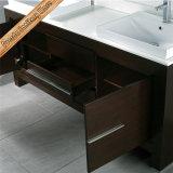 木のベニヤの二重流しの木の浴室の虚栄心の浴室用キャビネットを終える連邦機関1088のクルミ