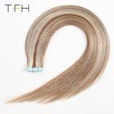 人間の毛髪の拡張ピアノカラー#6/613継ぎ目が無い接着剤の倍によって引かれるRemy毛のまっすぐな束の織り方のTfh Remyの毛2.5g/Setテープ