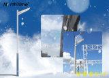 Solar LED luces de calle Teléfono inteligente de la lámpara LED de control de la App.