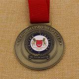 Custom forma redonda com Singapura Medalha militar na cor do antigo