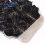 Chiusura di seta ondulata del merletto della chiusura dei capelli superiori del Virgin