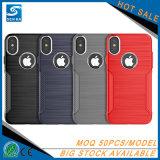 De Mobiele Telefoon Shell van de Knoop TPU van het aluminium voor iPhone X